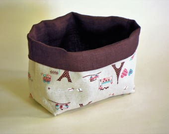 Fabric basket - Linen and cotton