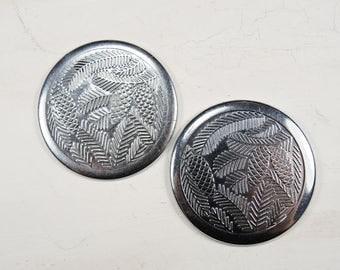 Vintage Pocket Watch Back Lids - set of 2 - c46
