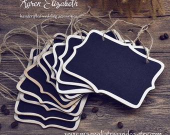 Mini Chalkboard Tag, Double Sided Blackboard, Wedding Decor, Party Supplies, Rustic, Decorations, Place Holder, Table Number, 5pcs, KE220