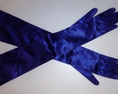 Heathcoat's Stretch satin  evening formal  elbow opera gloves vintage 50's Buttons