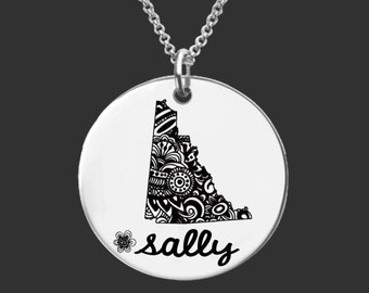 Yukon | Yukon Jewelry | Canada Necklace | Canada Jewelry | Bridesmaid Gifts | Daughter Gift | Korena Loves