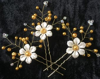 3x Bridal Vine Hair Pins, Wedding Hair Accessories, Wedding Prom Headpiece