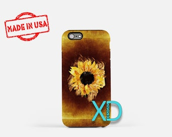 Artistic Sunflower iPhone Case, Flower iPhone Case, iPhone 8 Case, iPhone 6s Case, iPhone 7 Case, Phone Case, iPhone X Case, SE Case