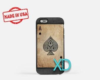 Ace of Spades iPhone Case, Ace iPhone Case, Ace of Spades iPhone 8 Case, iPhone 6s Case, iPhone 7 Case, Phone Case, iPhone X Case, SE Case