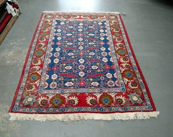 Persian Rug - 1970s Vintage, Hand-Knotted, Veramin Rug (1541)