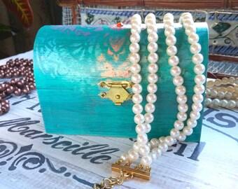 Boho Jewelry Box, Trinket Box, Recycled, Bohemian Decor, Home Decor, Jewelry Storage