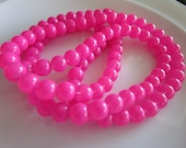 108 round Glass Beads PINK COLOR 6mm, bead supplies, glass beads, druk beads, beads for making jewelry, pink beads, pink glass beads, pinks