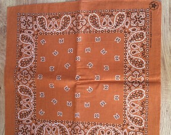 Vintage Orange Brown Bandana