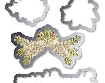 Sizzix Framelits Dies 4/Pkg W/Textured Impressions Folder-Ornaments #2