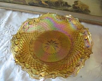 Flat amber Carnival Indianna vintage
