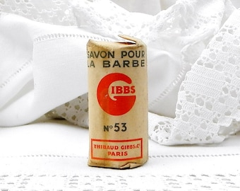 "Vintage French Unused Shaving Soap Stick ""Savon Pour Barbe No 53"", Beard Soap, Collectible, Retro Home Interior, Barber, Cut Throat, Men"