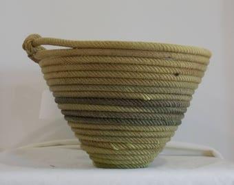 Green Lariat Basket