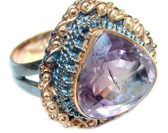 Amethyst Sterling Silver Ring - weight 9.20g - Size 7 - dim L- 7 8, W - 7 8, T- 3 16 inch - code 14-paz-16-41