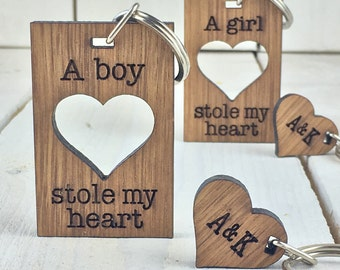 Valentines Keyring | Boyfriend Gift | Girlfriend Gift | Anniversary gift | Personalised Keyring | Keyring for Him | Keyring for her | love