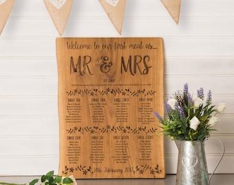 Rustic Wedding Table Plan | Oak Table Plan | Country Wedding | Wooden Table Plan | Wedding Table Plan | Seating Plan | Wedding Decoration