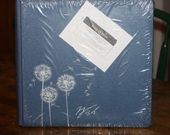 "Creative Memories 12x12 Medium Blue ""Make A Wish"" Album"