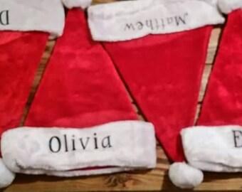 Personalized Santa Hat, Santa Hat, Personalized Hat, Christmas Hat, Personalized Christmas Hat, Christmas, Santa