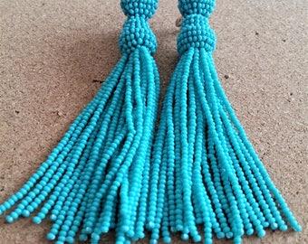Bead Earring, Long tassels
