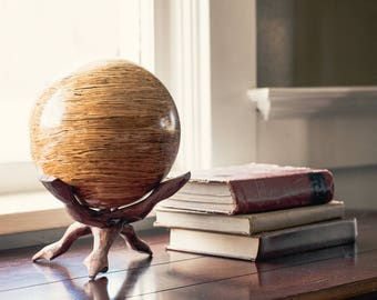 Solid Glulam Hardwood Decorative Sphere