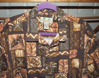 Men's Hawaiian Shirt Vintage Size XL