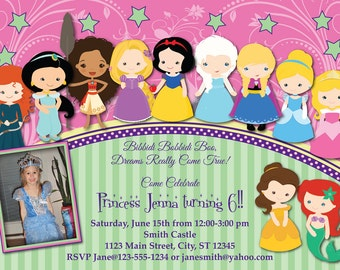 Toddler Princess Birthday Invitation