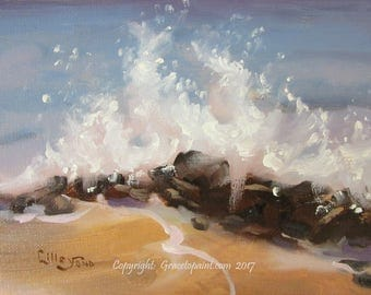 Surf Burst...Original Oil Painting by Maresa Lilley, SND
