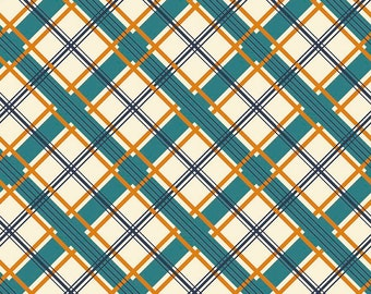 Groovin Printed Plaid Cream - Keep on Groovin Collection - Riley Blake Designs - C5244-CREAM (sold by the 1/2 yard)