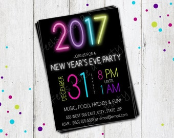 Custom New Years Eve Party Invite