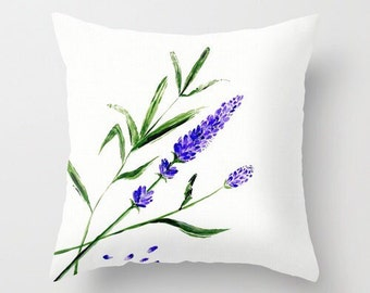 Lavender Throw Pillow Cover, lavender pillow cover, flower pillow cover, throw pillow cover, lavender pillow, floral pillow, purple pillow