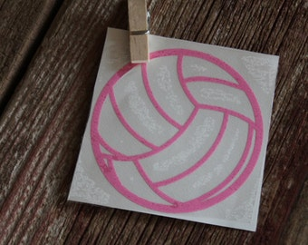 Volleyball Decal, Vinyl Decal, Laptop Decal, Gift for Her