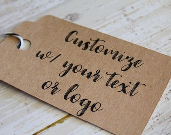 YOUR TEXT HERE, Your Logo Here, Paper Tag, Wedding Favor Tag, Paper Gift Tag, Gift Tags, Custom Personalizd