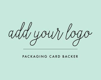 Add Your Logo to the Back of Your Packaging Cards | INSTANT PDF Template