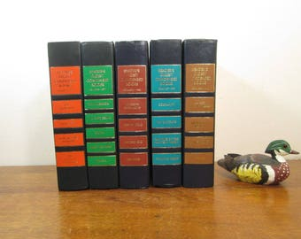 Vintage Colorful Book Stack, Reader's Digest Books, Matching Book Shelf Decor