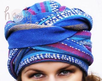 Tribal Hippie Hat, Tribal Turban, Hippie Hat, Hippie Turban, Boho Hat, Boho Turban, Womens Hat, Mens Hat, Mens Turban, Head Wrap, Hair Wrap