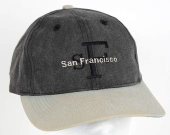 Vintage Gray Cotton San Francisco Baseball Cap / Hat / Dad Hat