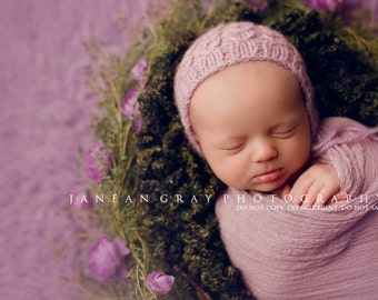 Newborn {Dream Cables} Knit Cable Bonnet, Newborn Photography Prop, Several Color Options