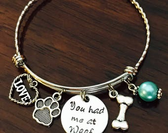 You had me at Woof Bracelet
