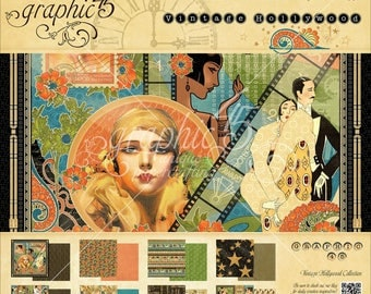 Graphic 45 8x8 Paper Pad - Vintage Hollywood