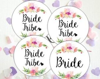 Bride Tribe Wedding Wreath Favour favor Bachelorette Card Hen Party Stickers Labels