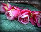 Flowers, Roses, Pink, Felt, Fiber Arts, Home Decor, Shabby Chic, Romantic, Victorian, Accessories