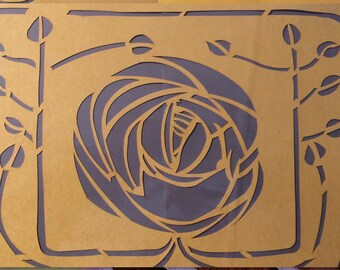 Set of three Charles Rennie Mackintosh Based stencils - special customer request