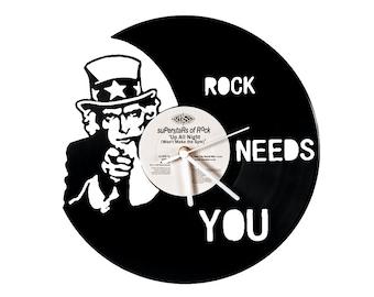 Vinyl clock Rock !