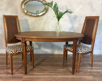 Mid Century Expandable Dining Room Table