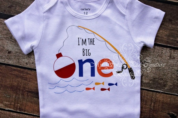 I 39 m the big one first birthday outfit fishing 1st for Fishing shirt onesie