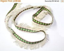 ON SALE 2 YRD of Ethnic  Ribbon Trim for Crafts, Sewing