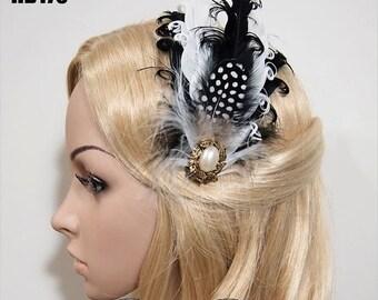 SALE Gatsby Headpiece, Gatsby Hair Comb, gatsby hair clip, flapper headpiece, Flapper Hair Clip, Bridal Headpiece HB175