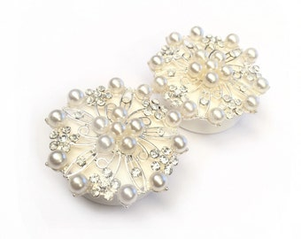SALE 34mm Diamante Pearl Ear Plugs