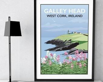 Galley Head Lighthouse, West Cork, Ireland print