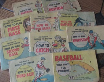 lot of 10 very rare Finer Points of Baseball for Everyone Hints for Little, Junior, Midget, Babe Ruth players International Harvester ad