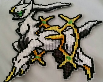 Arceus Cross-Stitch Wall Hanging